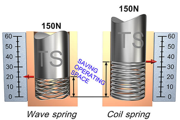 wave spring compare oil spring