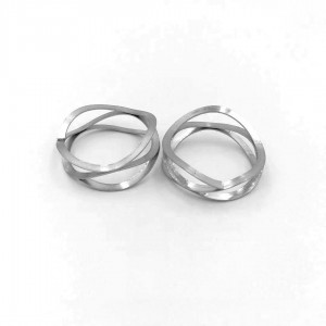 Multilayered Wave coil spring ring