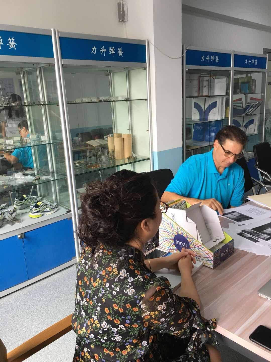 American customers visit our company