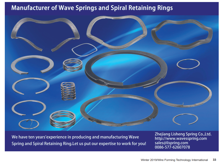 Our products, wave springs and spiral retaining rings, will be published in American magazines.